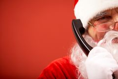 Papá Noel llamada Imagen de archivo libre de regalías