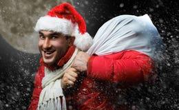 Papá Noel loco imagen de archivo