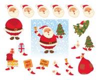 Papá Noel _2 Partes de la plantilla del cuerpo para el trabajo y la animación del diseño Imagen de archivo libre de regalías