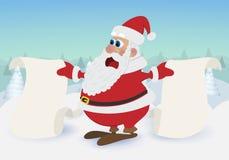 Papá Noel pintado a mano stock de ilustración