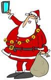 Papá Noel que toma un selfy ilustración del vector