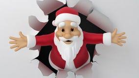 Papá Noel rasga el papel libre illustration