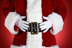 Papá Noel: Santa With Hands On Belly Imagen de archivo