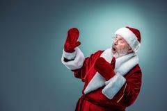 Papá Noel sorprendido Fotos de archivo libres de regalías