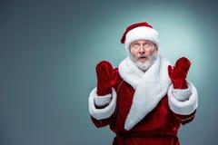 Papá Noel sorprendido Fotografía de archivo libre de regalías