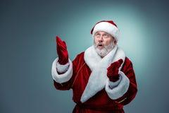 Papá Noel sorprendido Imagenes de archivo
