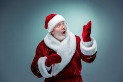 Papá Noel sorprendido Imágenes de archivo libres de regalías