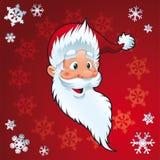 Papá Noel - tarjeta de Navidad Imágenes de archivo libres de regalías