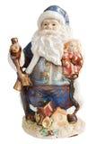 Papá Noel tradicional que da una alarma grande del ho del ho del ho fotografía de archivo libre de regalías