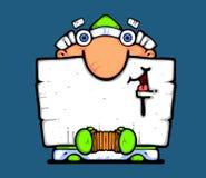 Papá Noel verde feliz con el armónico Imágenes de archivo libres de regalías