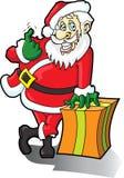 Papá Noel viene aquí Fotos de archivo libres de regalías