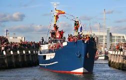 Papá Noel viene a Holanda Imágenes de archivo libres de regalías