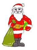 Papá Noel y árbol de navidad imagen de archivo libre de regalías