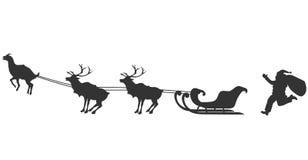 Papá Noel y cabra stock de ilustración