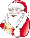 Papá Noel y carta Fotos de archivo