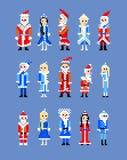 Papá Noel y doncella de la nieve Fotos de archivo