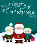 Papá Noel y friends1 Imagen de archivo
