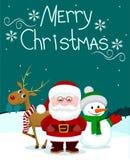 Papá Noel y friends2 Imagenes de archivo