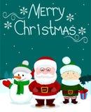 Papá Noel y friends3 Foto de archivo libre de regalías