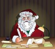 Papá Noel y letras Imágenes de archivo libres de regalías