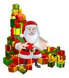 Papá Noel y lista de regalo Foto de archivo libre de regalías