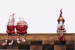 Papá Noel y marioneta Imagen de archivo libre de regalías