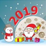 Papá Noel y muñeco de nieve fotos de archivo libres de regalías
