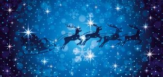 Papá Noel y renos ilustración del vector