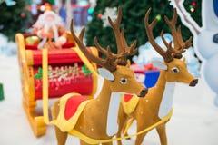 Papá Noel y renos Imagen de archivo libre de regalías