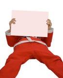 Papá Noel y tarjeta en blanco Imágenes de archivo libres de regalías