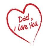 Papá te amo Fotos de archivo libres de regalías