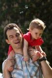 Papá y bebé fotografía de archivo libre de regalías