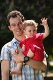 Papá y bebé Fotos de archivo