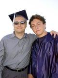 Papá y graduado Fotos de archivo libres de regalías