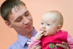 Papá y su bebé Imágenes de archivo libres de regalías