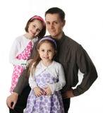 Papá y sus niñas Imagen de archivo libre de regalías