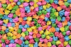 Papéis amarrotados coloridos Foto de Stock Royalty Free