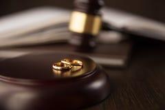 Papéis da união do conceito do divórcio foto de stock