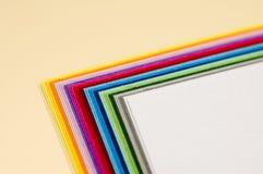 Papéis de Colourfull Foto de Stock