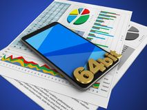 papéis de negócio 3d Foto de Stock
