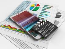 papéis de negócio 3d Imagem de Stock