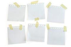 Papéis de nota Imagens de Stock Royalty Free