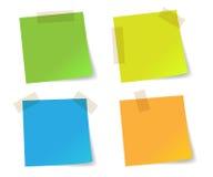 Papéis de nota da vara coloridos Imagem de Stock Royalty Free