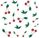 Papéis de parede com cerejas vermelhas Imagem de Stock Royalty Free