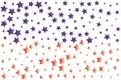 Papéis de parede dos confetes das estrelas ilustração stock