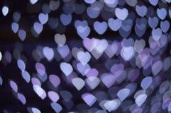 Papéis de parede e fundo do coração do bokeh de Blure Foto de Stock Royalty Free
