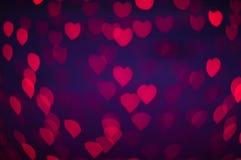 Papéis de parede e fundo do coração do bokeh de Blure Foto de Stock