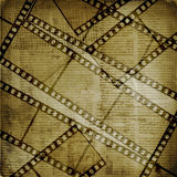 Papéis e filmstrip velhos do grunge Foto de Stock