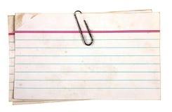 Papéis grampeados Imagens de Stock