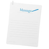 Papéis grampeados com disposição da mensagem Imagens de Stock Royalty Free